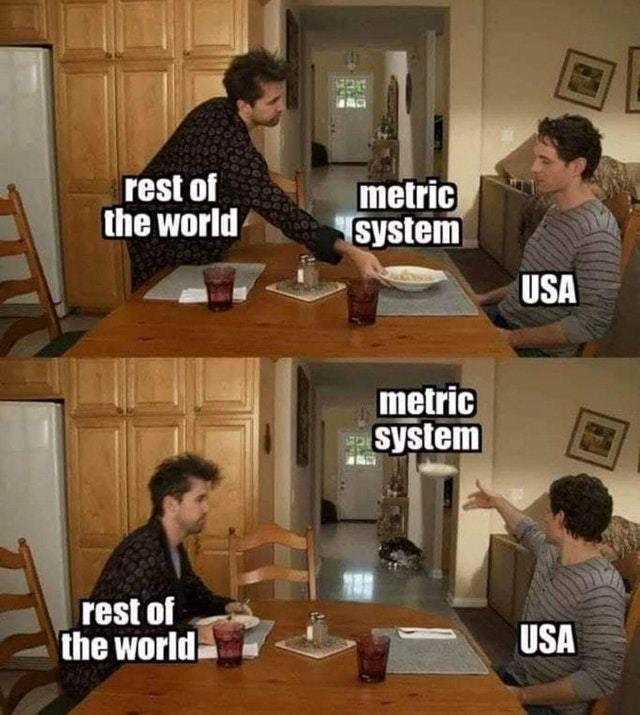 Metric system - meme