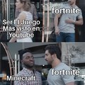 Recientemente minecraft supero a fortnite en tendencias...