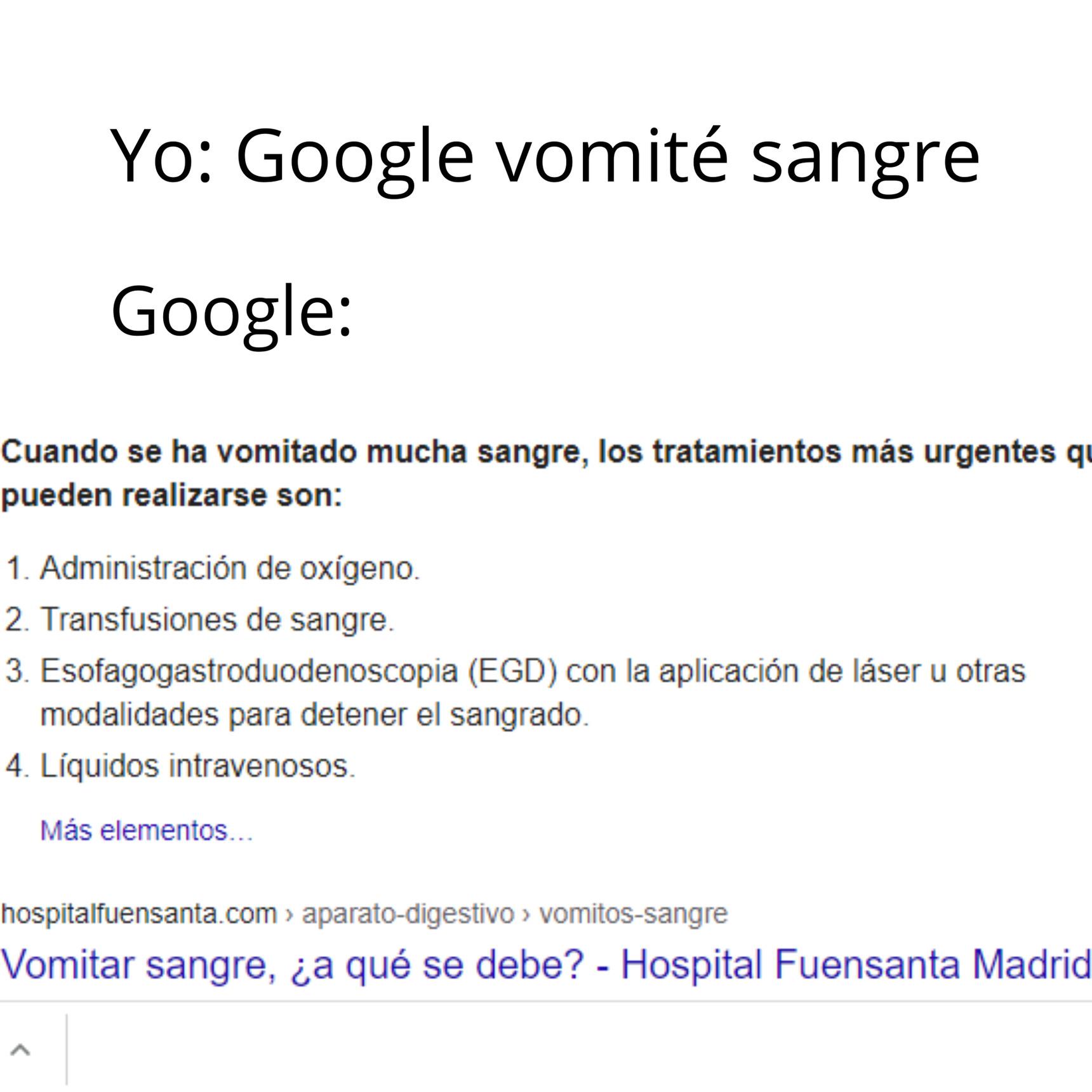 La medicina de Google es la mejor :) - meme