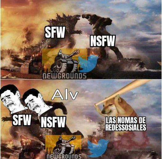 sfw vs nsfw - meme