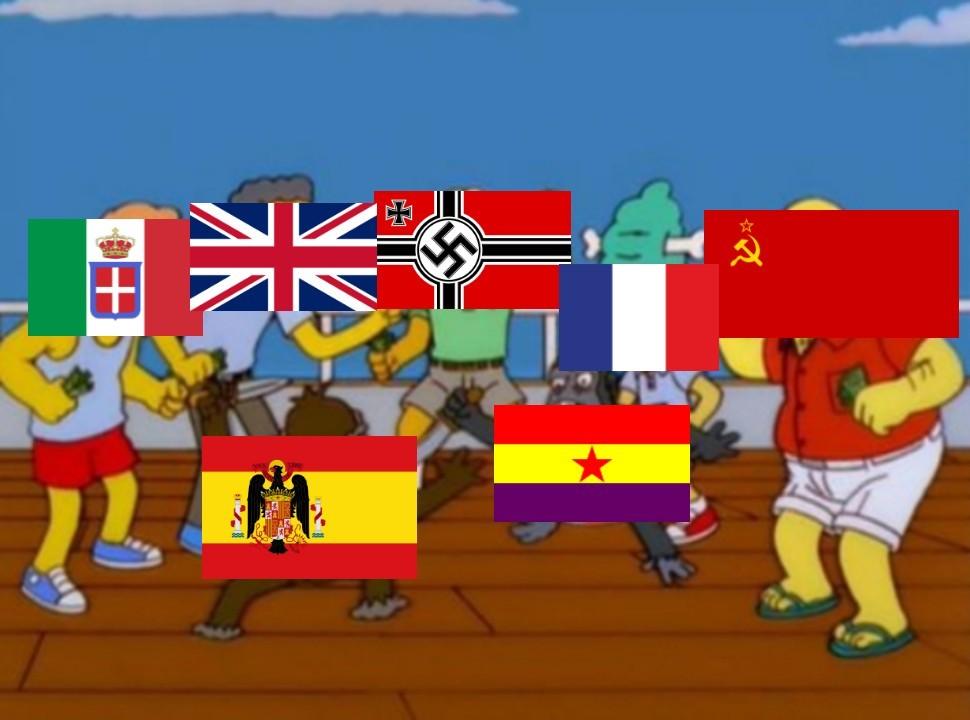 La guerra civil española resumida - meme