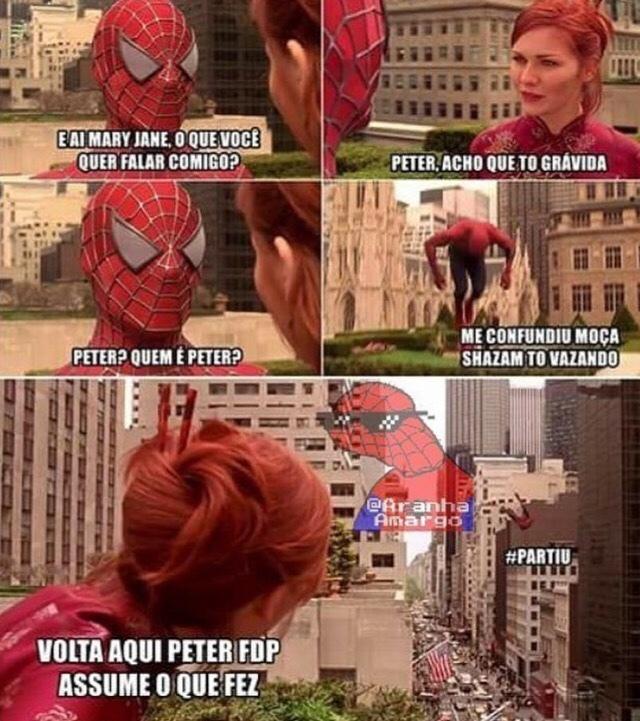Peter foge q eh treta - meme