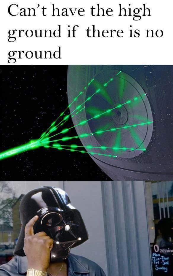 Hopefully soon the death star will destroy this meme