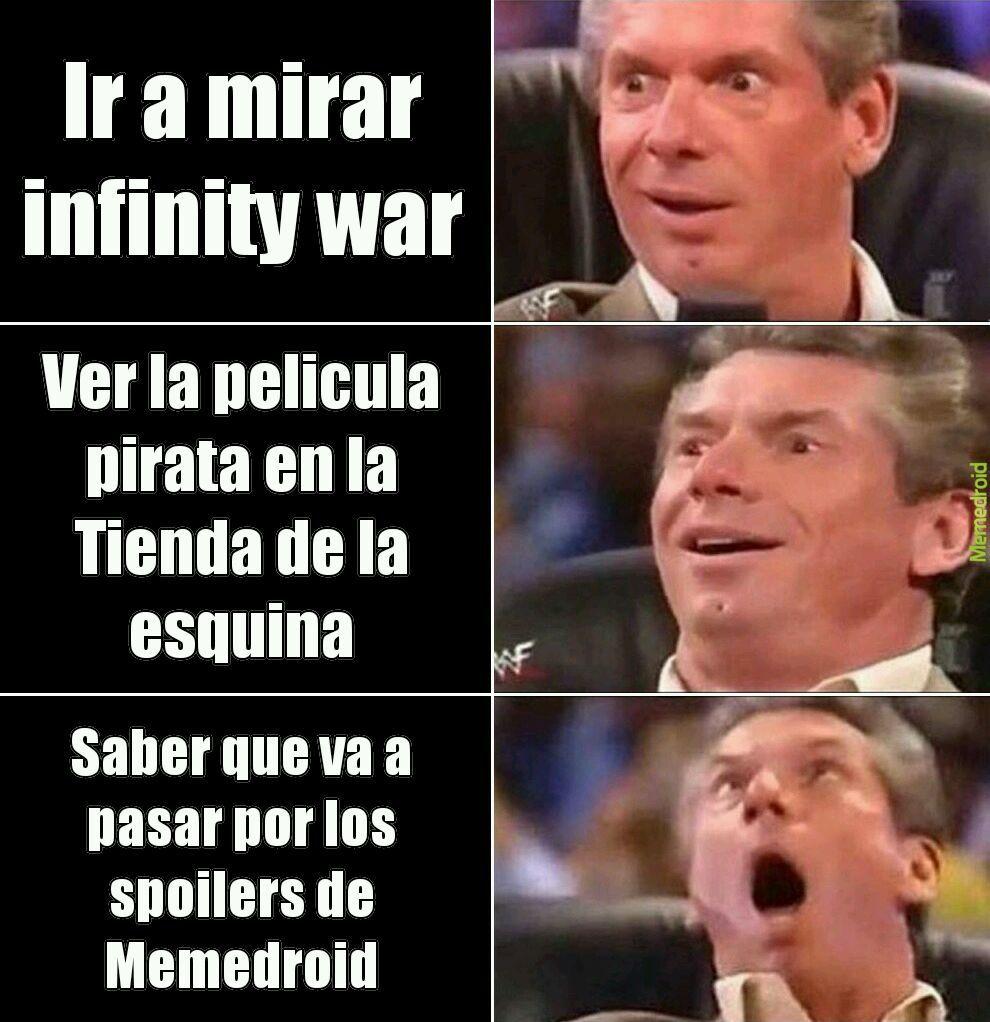 Formas de ver Avengers - meme
