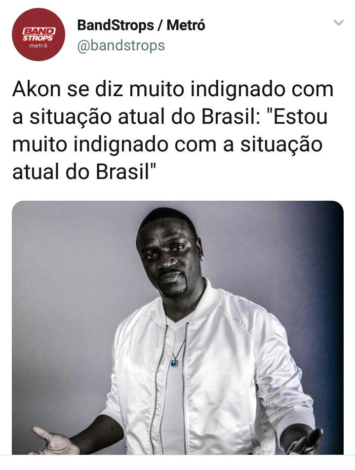 Eu também estou muito indignado com a situação do Brasil - meme