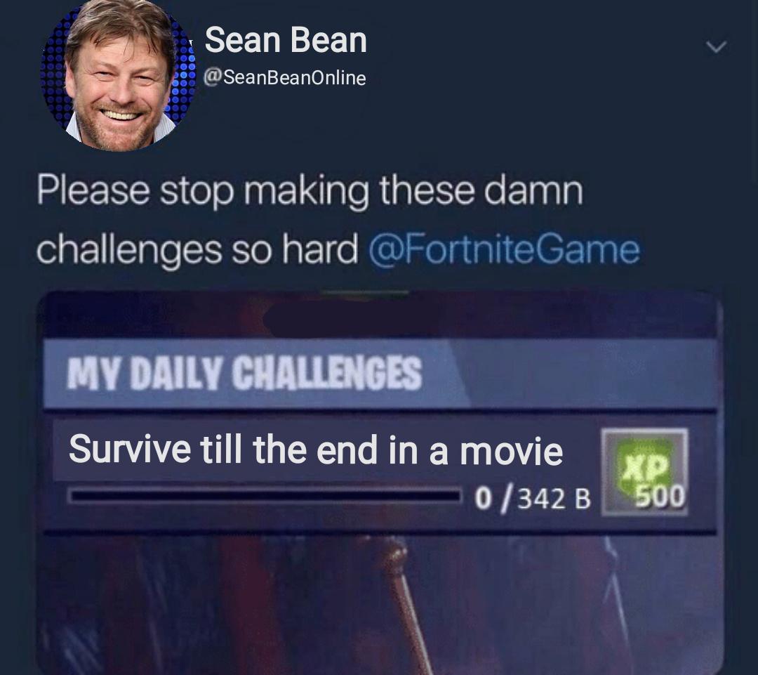 Sean Bean was great in S3 of GOT - meme