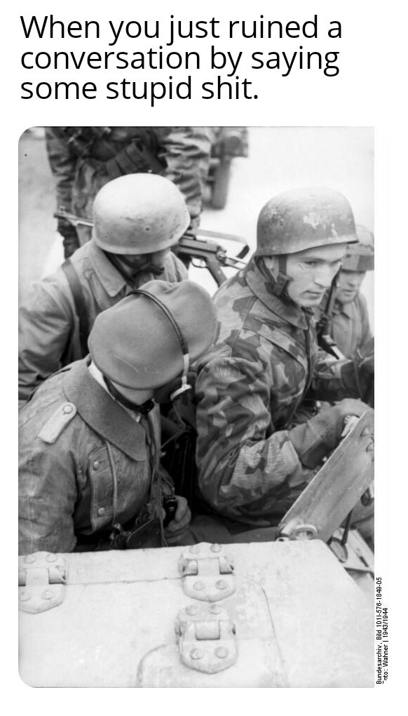The picture shows german paratroopers - meme