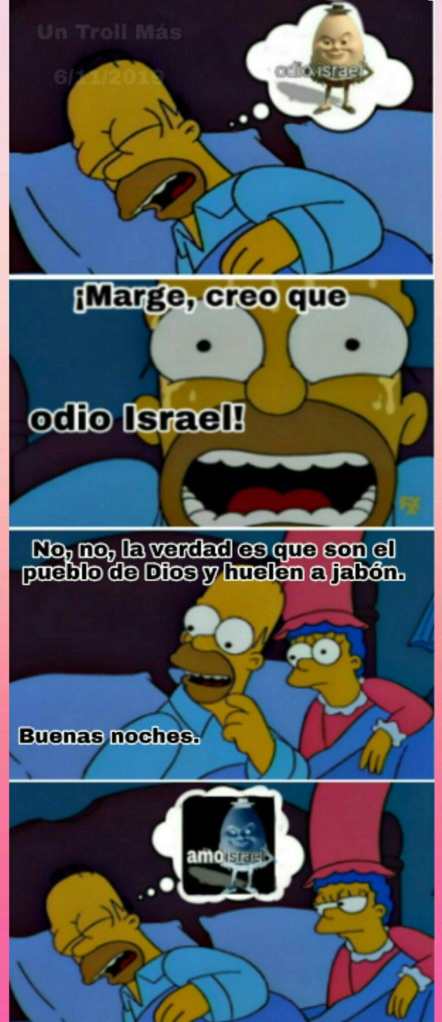 El titulo no sabe si odiar o amar a Israel, lol. - meme