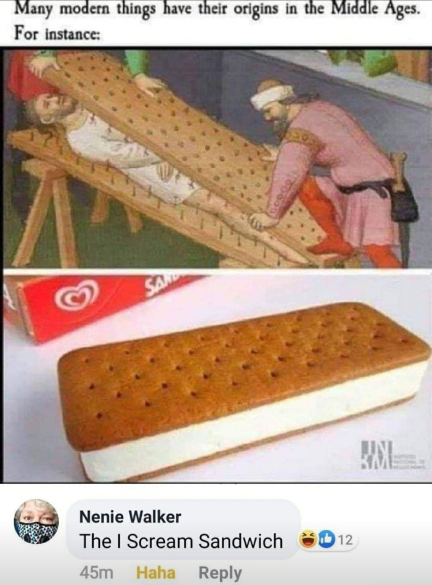 Origin of the ice cream sandwich - meme