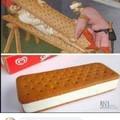 Origin of the ice cream sandwich