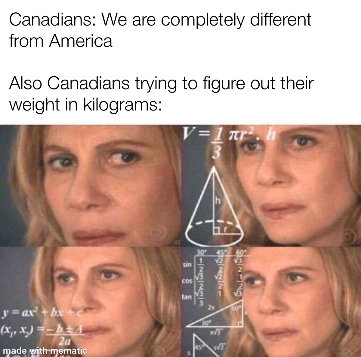 I'm Canadian, I'm allowed to joke about this - meme