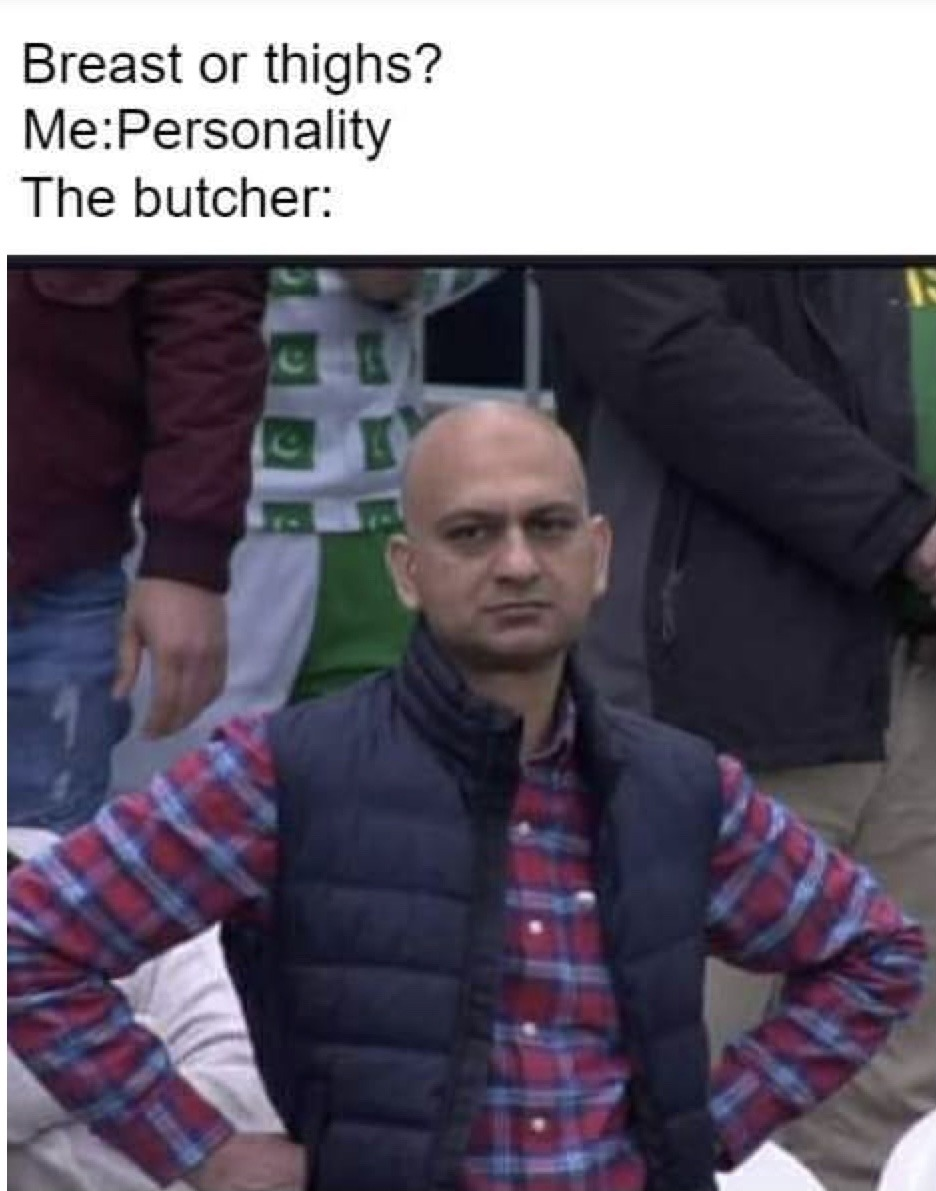 Sad meat man noises - meme