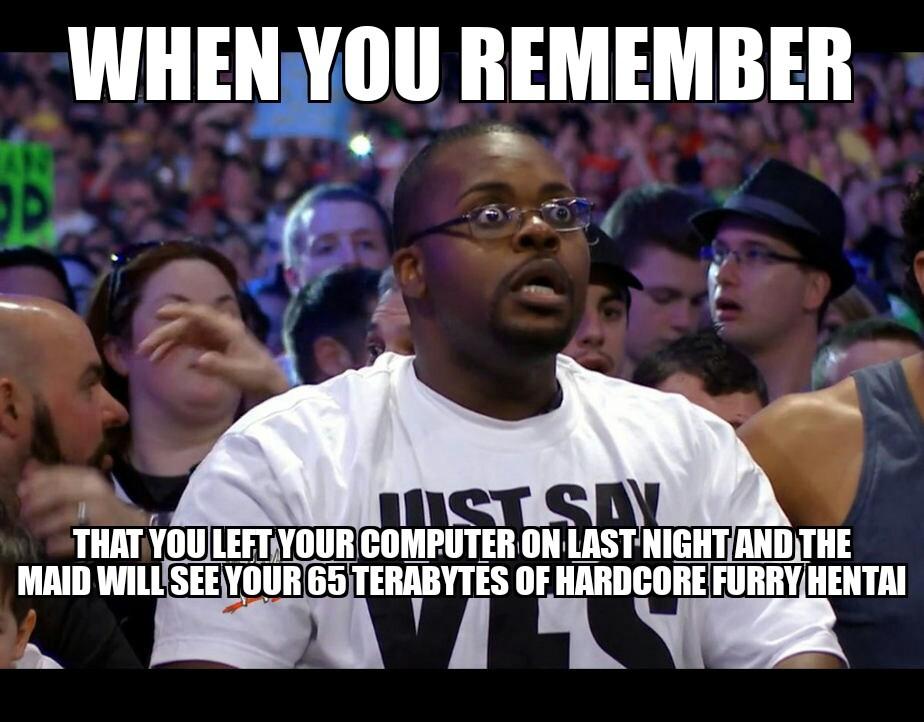 Terabytes the ass - meme