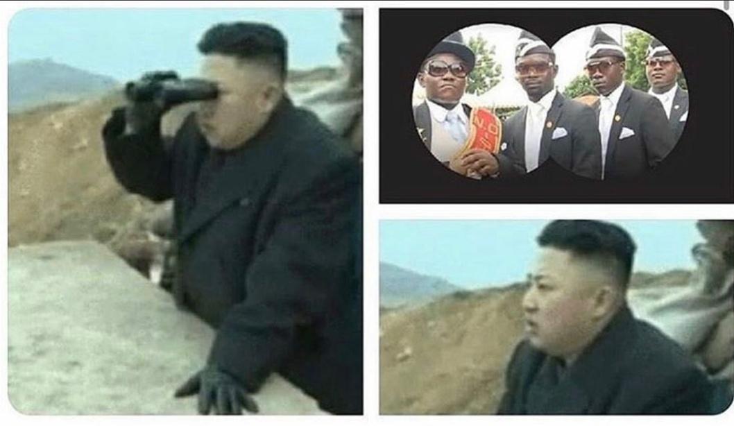 Turned himself into Pickle Kim, funniest shit I've ever seen - meme