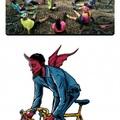 Pedalando feito o satanás