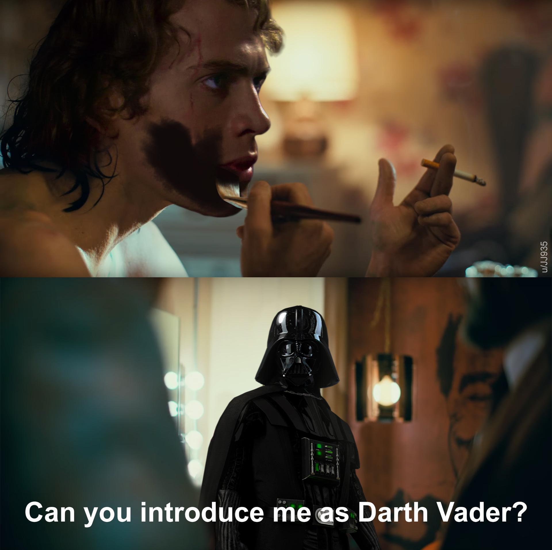 Pode me apresentar como Darth Vader? - meme