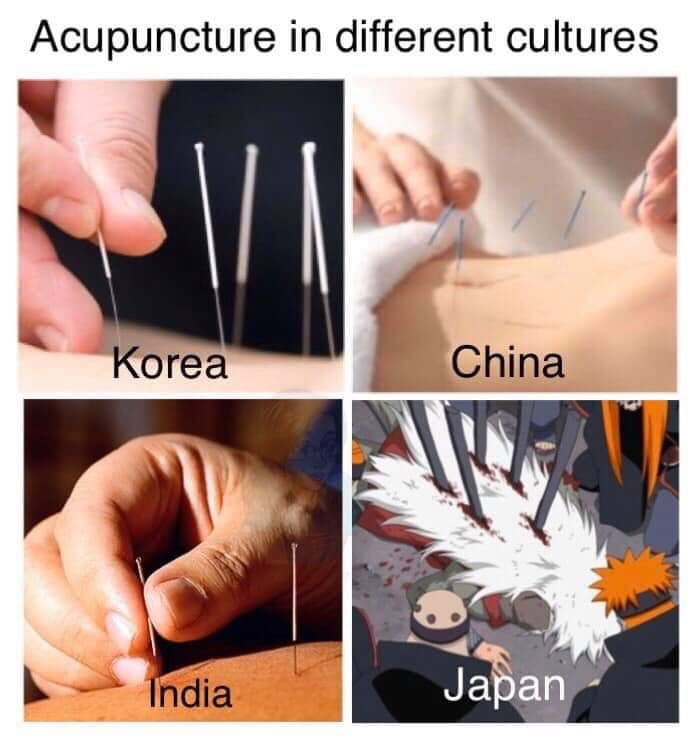 acupuncture in different cultures - meme