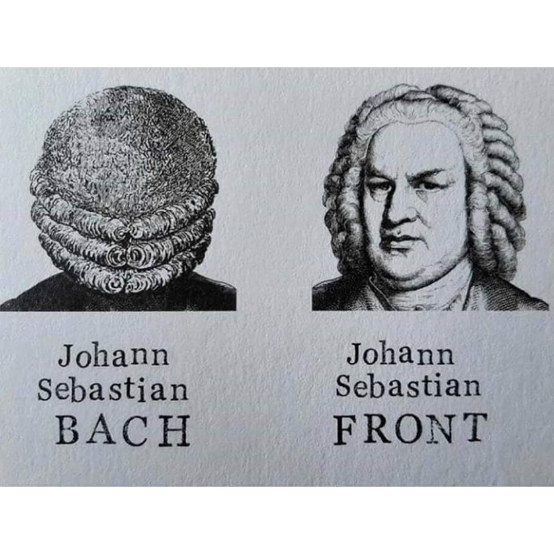 You're gorgeous from front to Bach ❤️ - meme