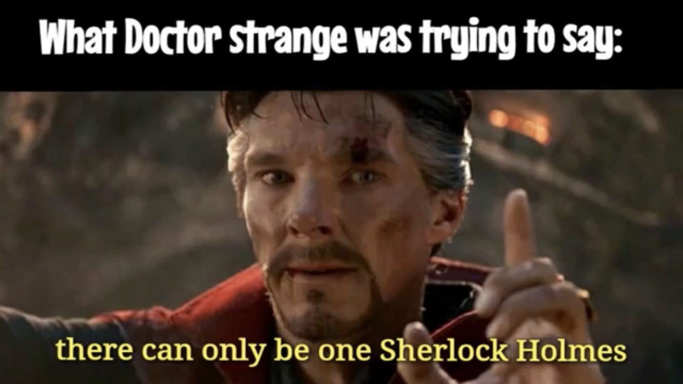What Dr. Strange was trying to say - meme