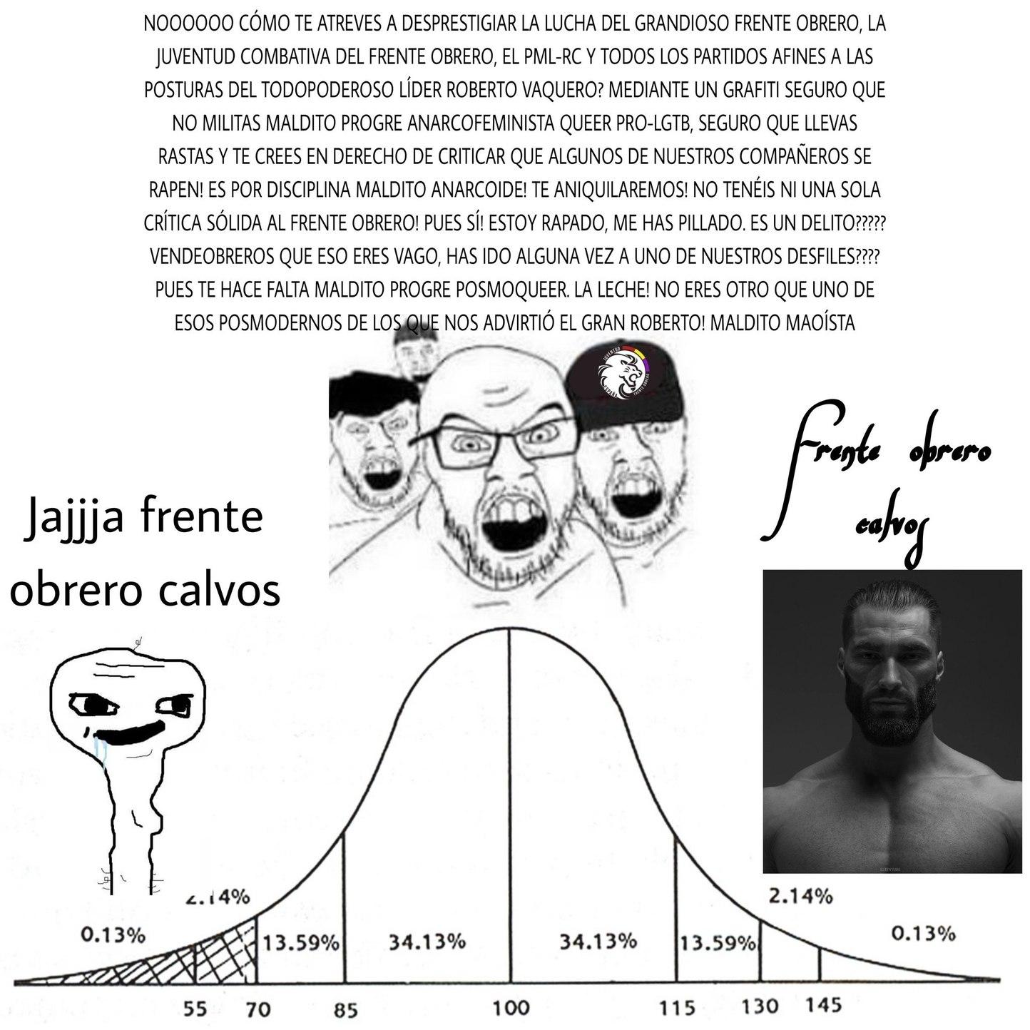 Frente obrero calvos - meme