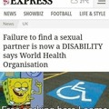 Guess I'm also disabled now.