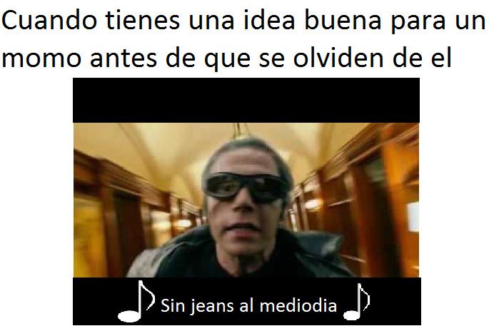 sin jeans al mediodia - meme