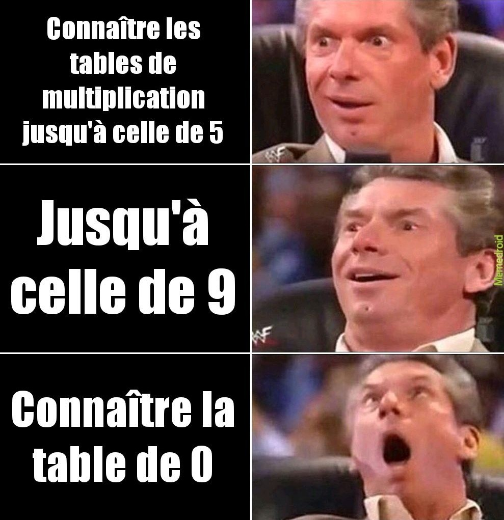 Table de multiplication - meme