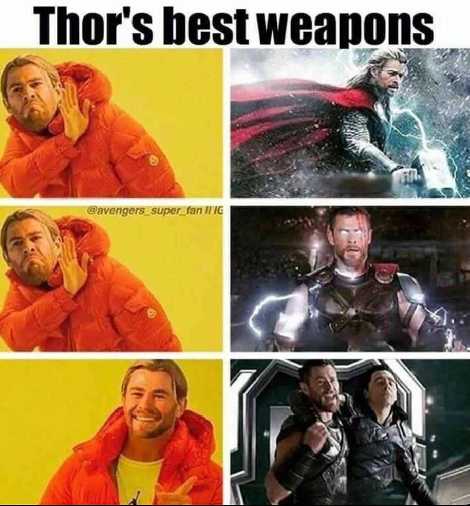 His best weapons - meme