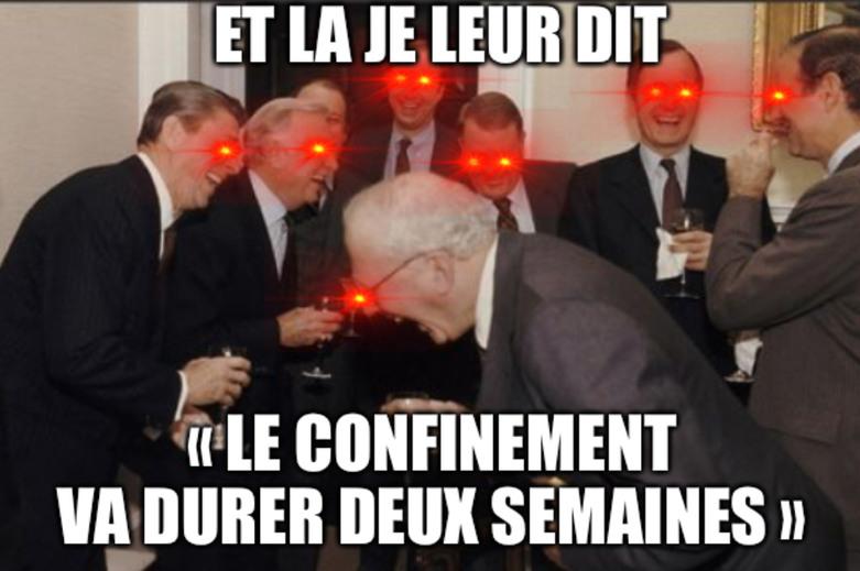 Macron, les ministres et les députés like: - meme