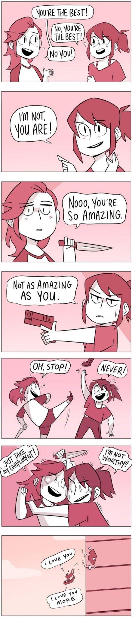 I love you, except it - meme