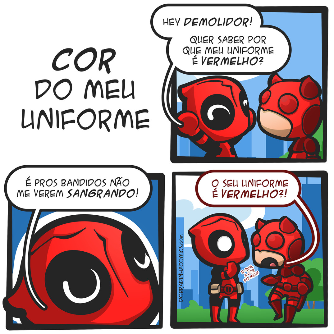Deadpool e Demolidor - meme