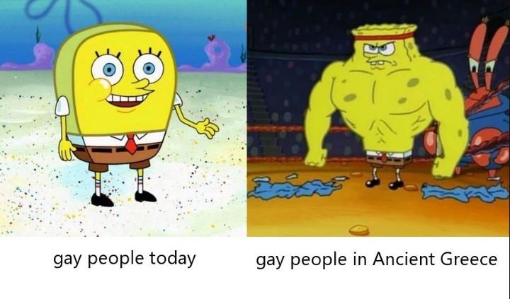 O first é gay - meme