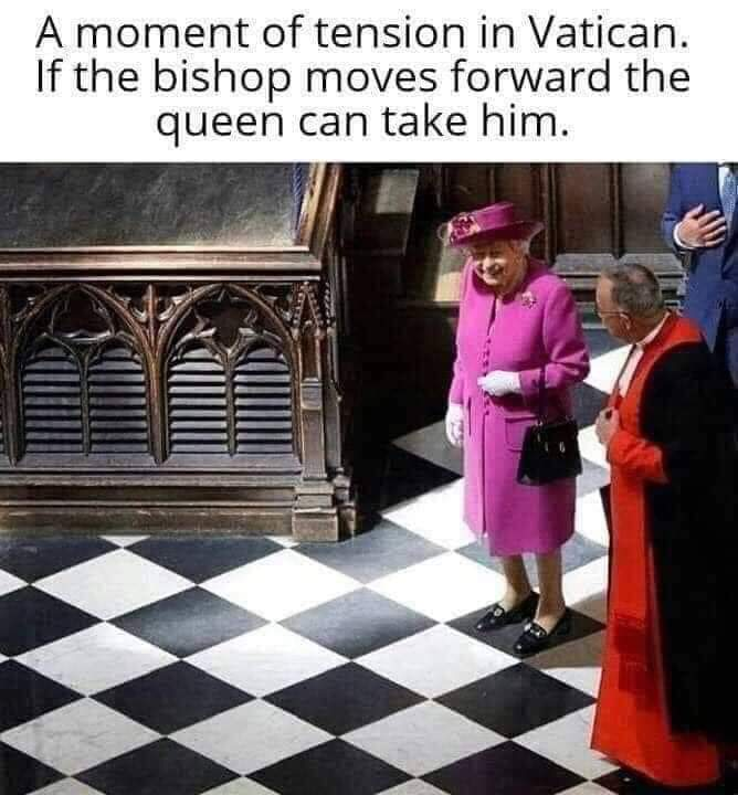 THE GAME OF CHESS, IS LIKE A SWORD FIGHT, YOU MUST THINK FIRST, BEFORE YOU MOVE. - meme