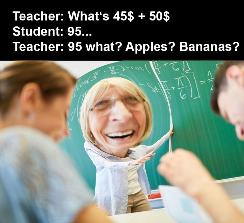 Pires professeurs - meme
