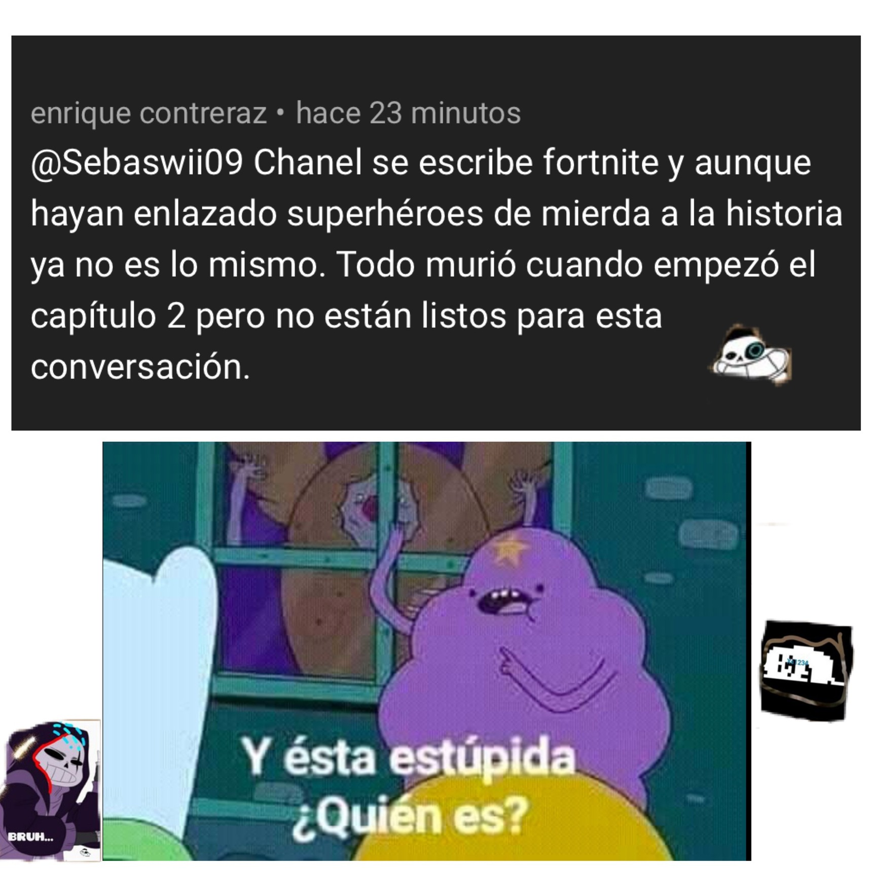 sacado de el trailer de fortnite temporada 4 - meme