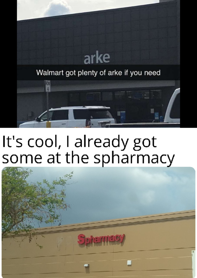 arke at the spharmacy - meme