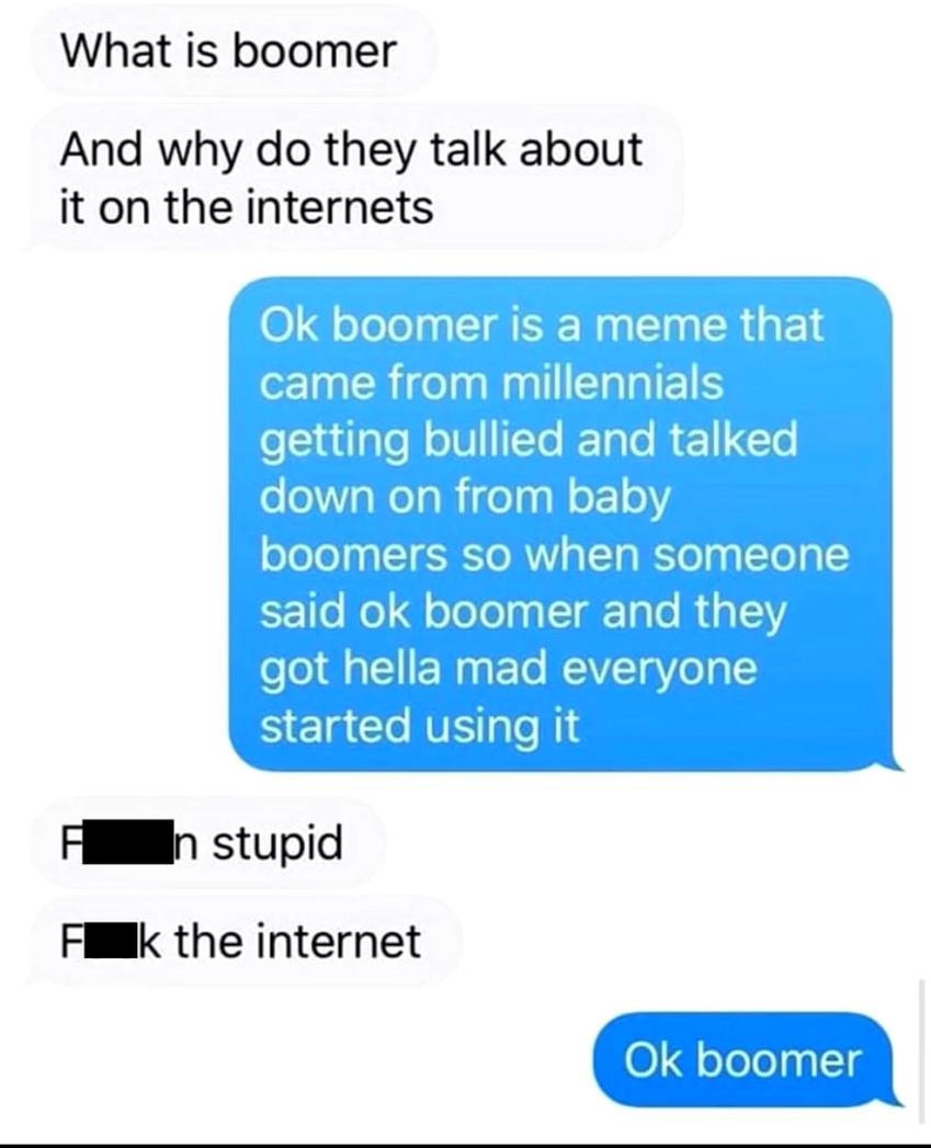 Boomers lol - meme