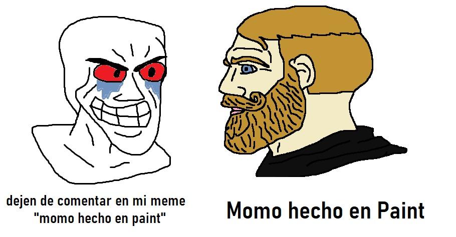 Momo echo en peint - meme