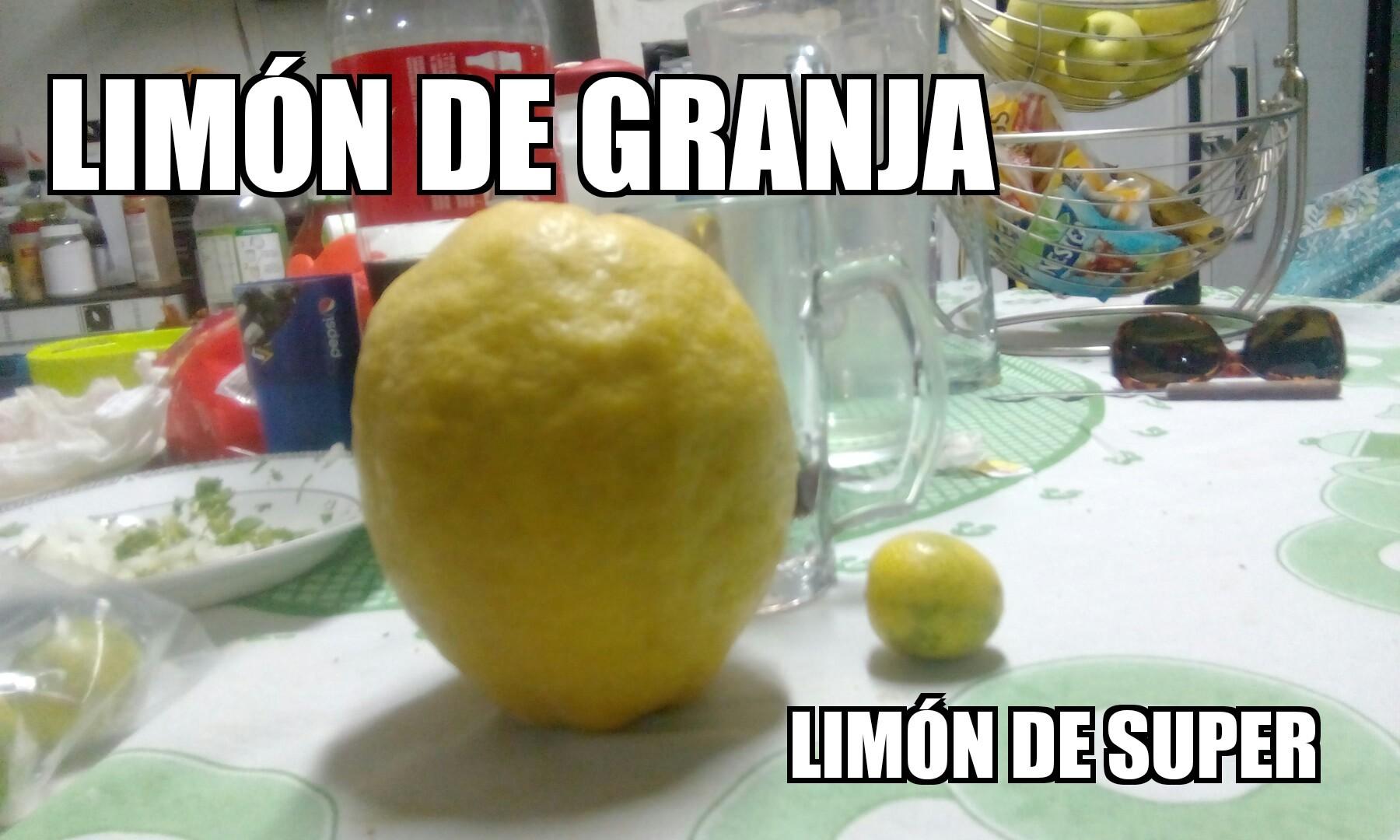 Si es un limón, si me lo aceptan subo uno cortandolo - meme