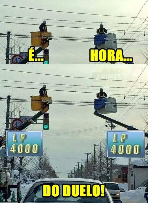 Pois é, HORA DO DUELO!!!! - meme