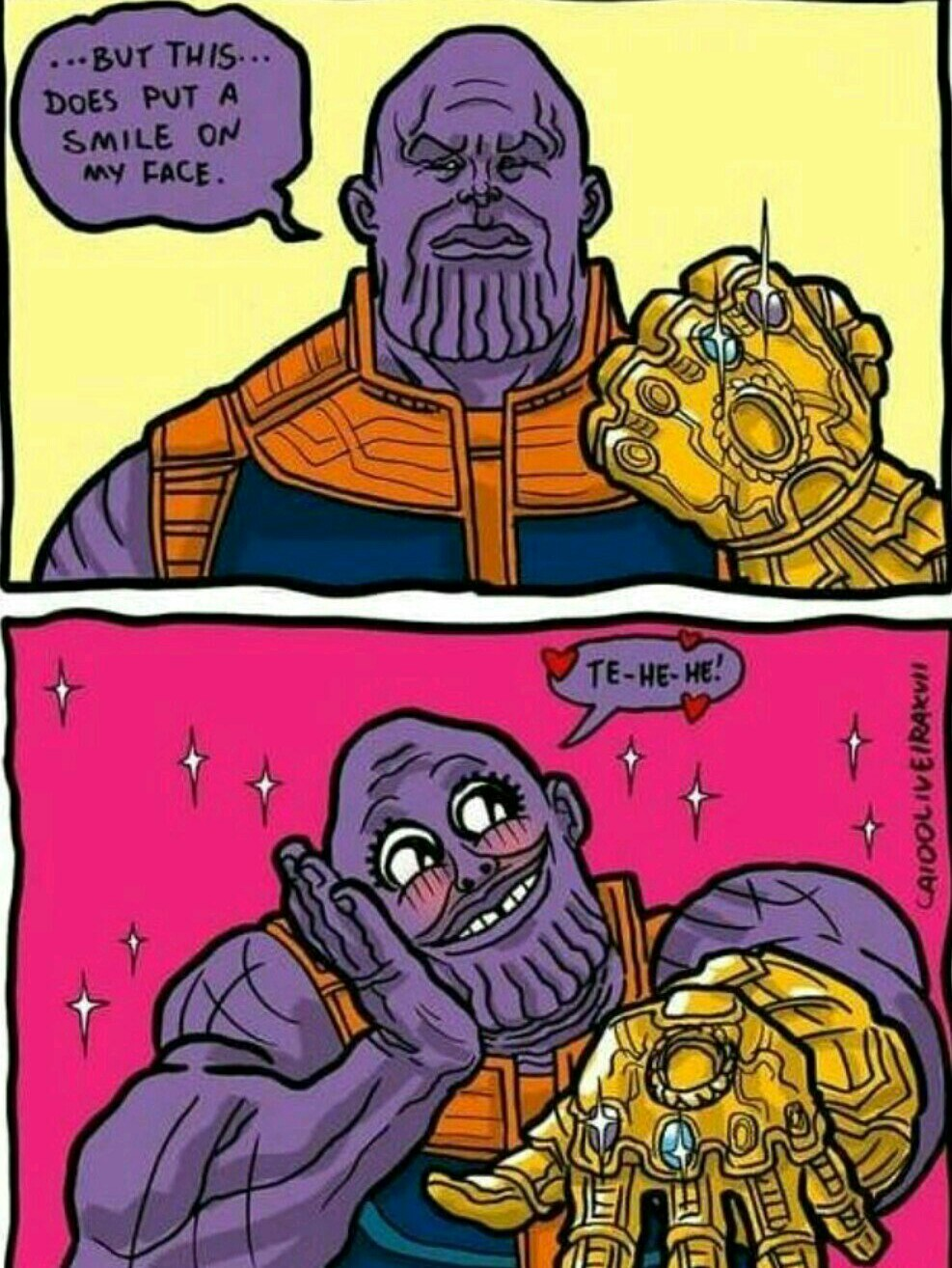 Thanos sugoi kawaii(n leia a tag) - meme
