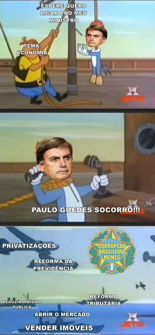 Paulo mito Guedes - meme