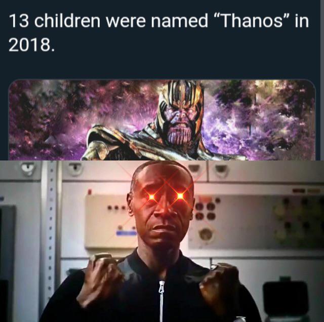 13 children were named Thanos in 2018 - meme