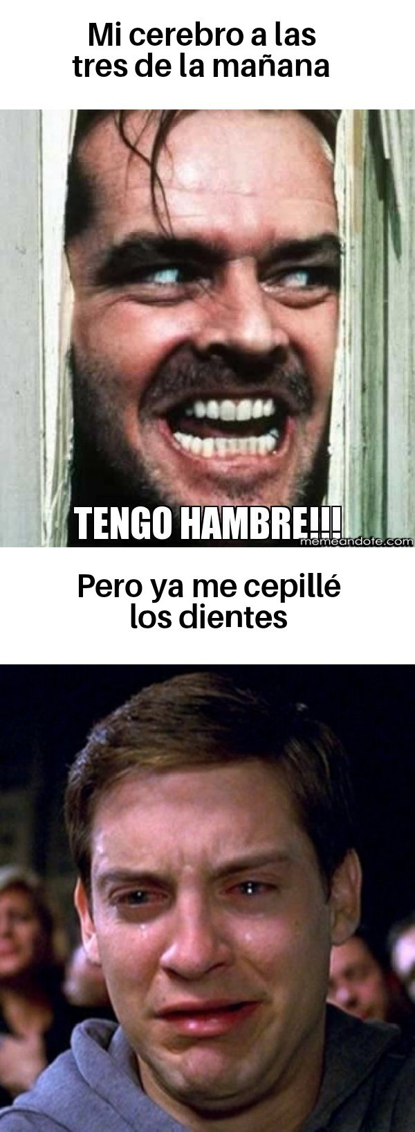 En España son las 3 ahora - meme