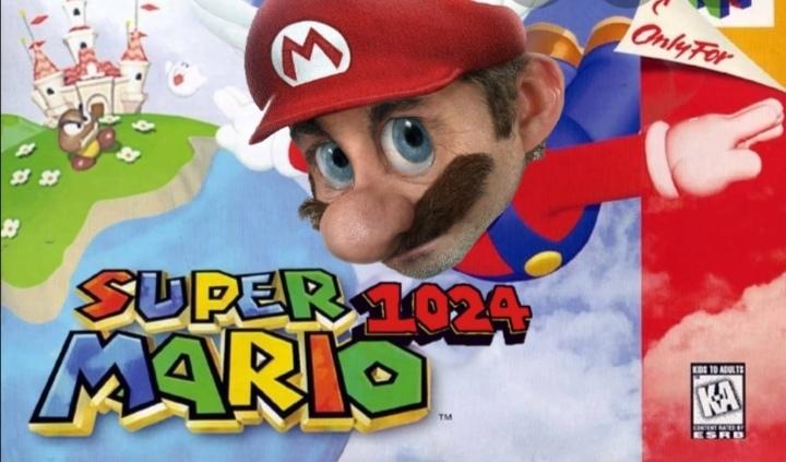 Super mario 4k - meme