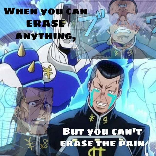 Take my pain away josuke - meme