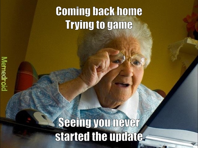 Grannies trying to game.  @ Gg - meme