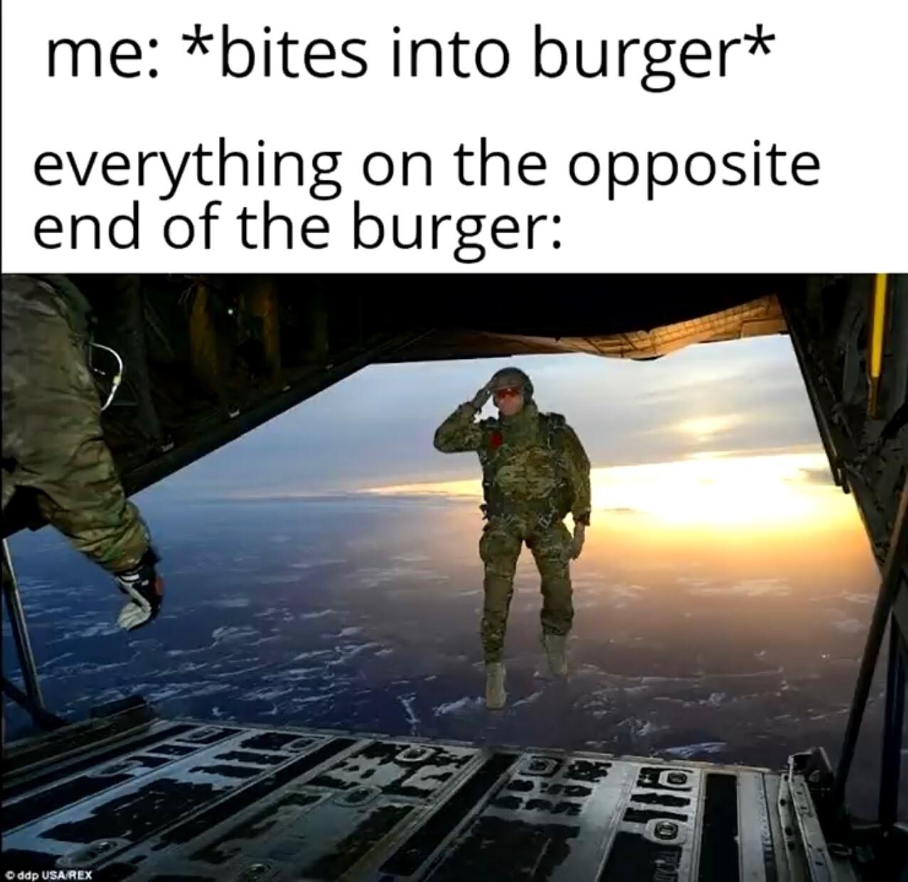 burgers just seem to hate humans - meme