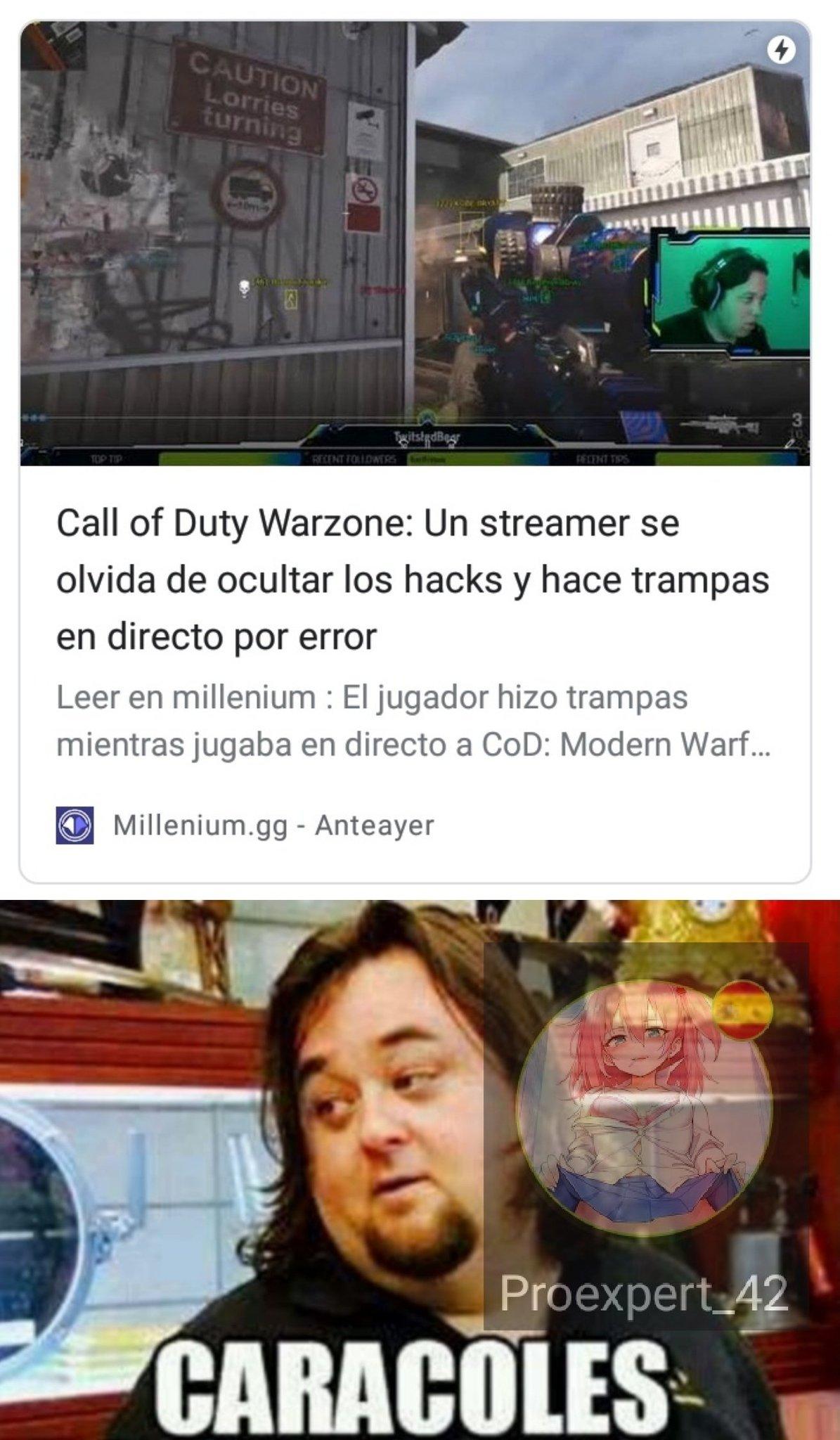 El meme se fue a jugar Warzone
