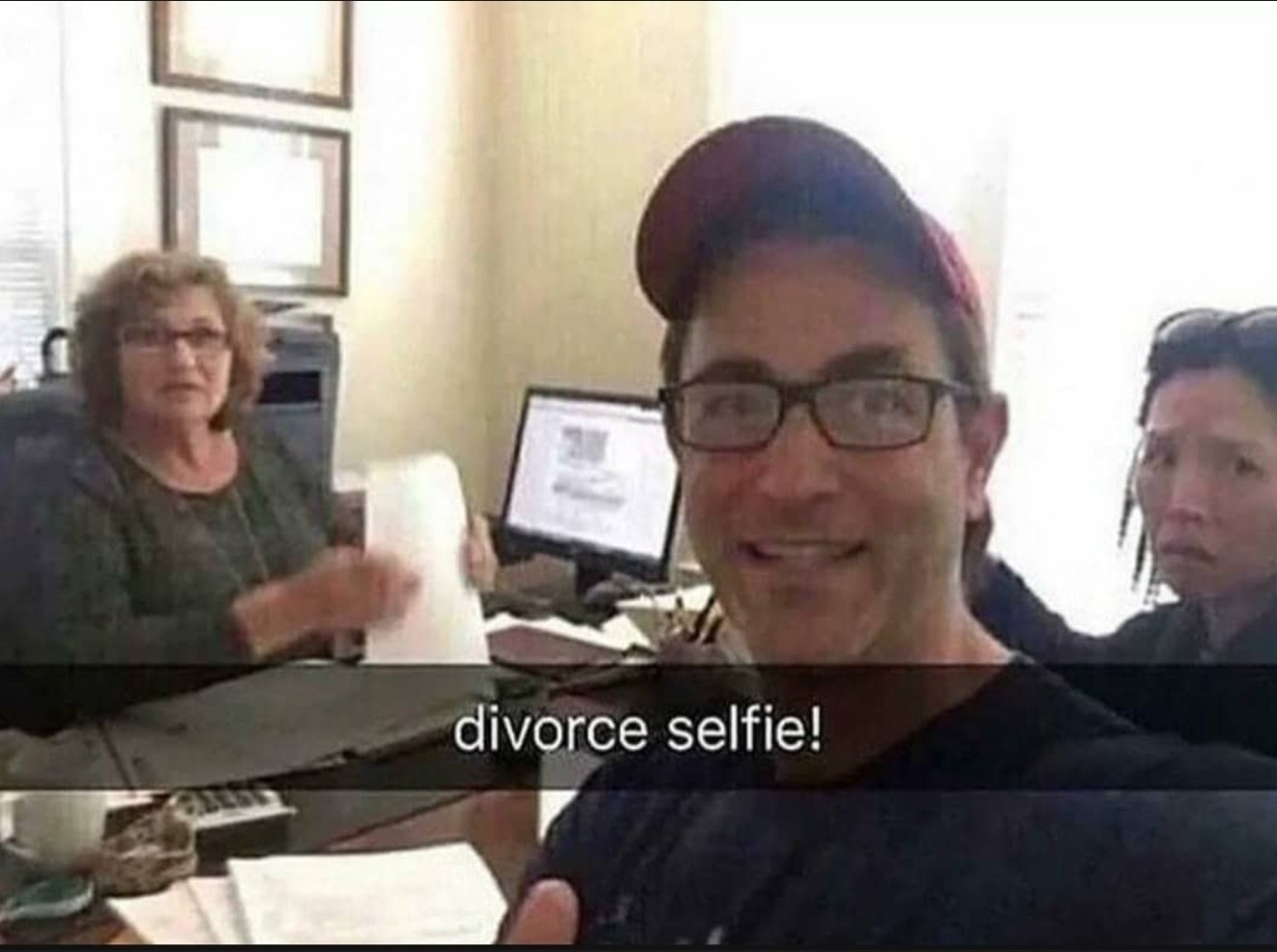 divorce selfie lol - meme